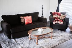 Check out this new living room designed by She just shared her apartment reveal featuring the Top Hat Chocolate Collection! We love how cozy and comfortable this looks! New Living Room, Living Room Furniture, Family Apartment, Toss Pillows, Fashion Room, Beautiful Space, Small Apartments, Interior Design Inspiration, Living Room Designs