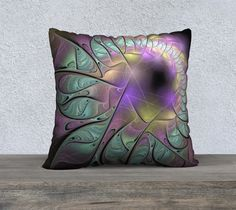 """22""""+x+22""""+Pillow+Case+""""Multicolored+fractal+picture+on+the+dark+background+""""+by+Anna+Maloverjan  excitement, passion, careless, enigmatic, abstract, background, fractal, spiral, glow, multicolored, design, light, element, creative, graphic, illustration, lines, art, concept, render, technology, style, structure, shape, power, idea, modern, motion, chaos, geometric, futuristic, architecture, wallpaper, effect, magic, surreal, phantasm, science fiction, fantasy, composition, pattern, shi"""