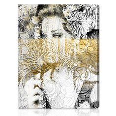 Shop for Oliver Gal 'Bloom' People and Portraits Wall Art Canvas Print - Gold, Black. Get free delivery On EVERYTHING* Overstock - Your Online Art Gallery Store! Oliver Gal, Home Deco, Canvas Art Prints, Canvas Wall Art, Portrait Wall, Foto Art, Pics Art, New Wall, Botanical Art