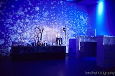 Blue Bar Mitzvah Lighting Party Favor Storage Cubbies {Venue: Life...The Place To Be, Ian Londin Photography} - mazelmoments.com