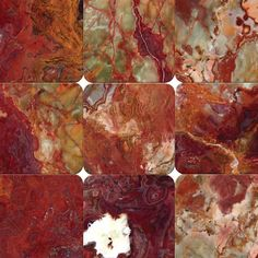 Red Onyx 4x4 Tumbled Tile