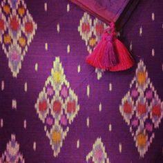 Balinese endek (ikat) shawls from House of Wandering Silk www.wanderingsilk.org