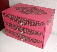 using different colors and style, maybe I could craft the birchboxes to look like this as a stacked set?