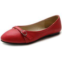 Ollio Women's Shoe Ballet Round Toe Mary Jane Flat (7 B(M) US, Red) Ollio http://www.amazon.com/dp/B00KTJEVVG/ref=cm_sw_r_pi_dp_1oJZvb0J28YXF