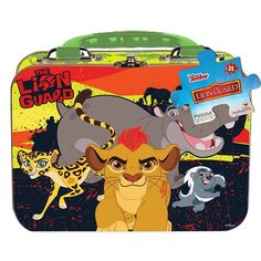 Disney's The Lion Guard Puzzle Lunch Box by Cardinal, Multicolor