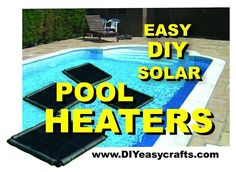 How to make this easy DIY Solar Pool Heater. Simple design that works great. Warm your pool without any additional heating expense. Piscina Diy, Piscina Intex, Jacuzzi, Do It Yourself Pool, Diy Pool Heater, Intex Pool Heater, Swimming Pool Heaters, Pool Warmer, Solar Cover