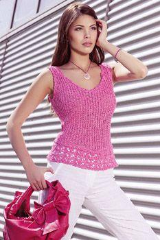 Catalogue Pingouin - modèles à tricoter avec des aiguilles de N°3 à 8 Crochet Blouse, Catalogue, Crochet Clothes, Peplum, Tank Tops, Alice, Women, Fashion, Hand Crafts