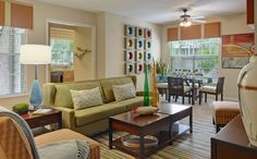 Sabal Park Apartments Royal Floor plan living room and dining area