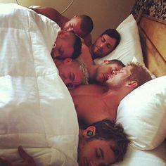 Men cuddling