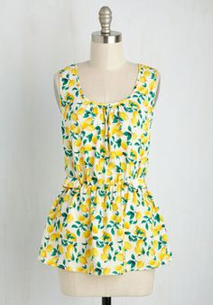 Lively Workplace Top in Lemons. When the dresscode of your workplace is anything…