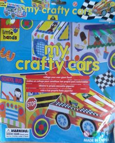 My Crafty Cars - KidsnCrafts Online Store - 1 Craft Projects For Kids, Crafts For Kids, Collage, Frosted Flakes, Crafty, How To Make, Pork, Crafts For Children, Collages