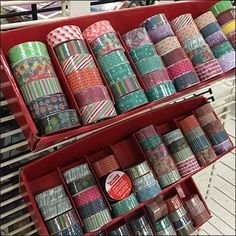 """Crafting Tape Corrugated Tray For 1"""" Grid Floor Graphics, Retail Fixtures, Plastic Clips, Decorative Tape, Michael Store, Merchandising Displays, Hooks, Grid, Crafting"""