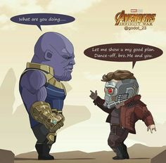 Thanos vs Peter quill