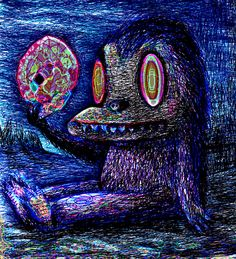 """""""Creature with amethyst gem."""" By Dain Fagerholm"""