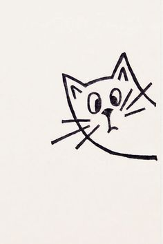 A very surprised cat peek-a-boo stamp - Non-mounted hand carved simple rubber stamp - funny animal stamp by WoodlandTale on Etsy https://www.etsy.com/listing/212023880/a-very-surprised-cat-peek-a-boo-stamp
