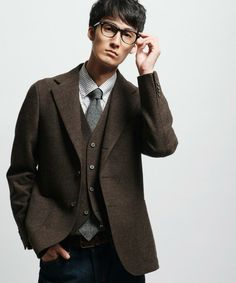 green label relaxing - William Bliss TWD WDD NT 2PP Jacket | Dark Brown