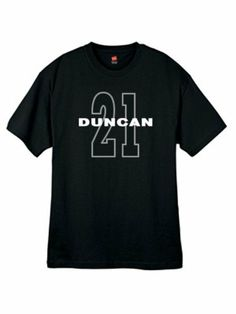 Mens Tim Duncan 21 Black T Shirt Size Medium by mixapparelusa. $17.00. A perfect t-shirt for the sports fan. An original creative design by us......mixapparelusa.