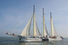 Driemaster de Grote Beer onder zeil. Dutch Barge, Tall Ships, Sailboats, Sailing Ships, Sailing Yachts, Sailboat