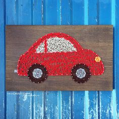 MADE TO ORDER String Art Car Sign by TheHonakerHomeMaker on Etsy