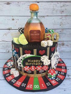 Casino themed birthday cake - Cake by Natasha Rice Cakes Birthday Cakes For Men, Birthday Cake For Husband, Themed Birthday Cakes, Themed Cakes, 50th Birthday, Birthday Nails, Birthday Cupcakes, Birthday Ideas, Casino Theme Parties