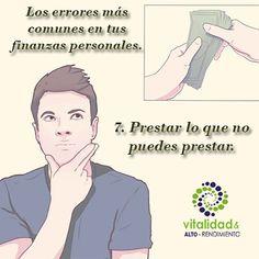 Los errores más comunes en tus finanzas personales. 7. Prestar lo que no puedes prestar. #errores #finanzas #personales