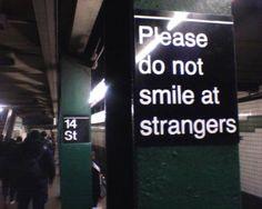 letrero en el subway