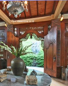 Javanese Walls with Amazing Vista - this could be anywhere in Indo, but reminds me of my beloved Island of the Gods. Exterior Design, Home Interior Design, Interior And Exterior, Filipino Architecture, Architecture Design, Indonesian Decor, Bali Style Home, Bali House, Spanish House