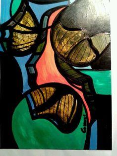 COZZANI astratto dipinto Maschere Lucenti opera unica 30x20 p ribassato in Arte e antiquariato, Quadri, Dipinti ad olio   eBay