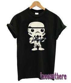Star Wars Stormtrooper Cute Cartoon Style Graphic T-Shirt Cartoon Styles, Cute Cartoon, Stormtrooper T Shirt, Relaxed Outfit, Girl Style, Fasion, Tees, Shirts, Cool Outfits