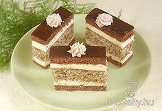 Kavart mézes krémes Hungarian Cake, Hungarian Recipes, Cake Recipes, Dessert Recipes, Eat Pray Love, Cake Bars, Food Cakes, Sweet And Salty, Diy Food