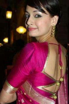 Nice #saree #blouse. Maybe for the next saree?