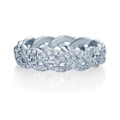 Verragio Eterna wedding band of diamond eternity bands with 0.60ct of round cut diamonds. Available in Gold or Platinum at #savoysjewellers