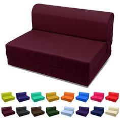 Sleeper Chair Folding Foam Bed Choose Color U0026 Sized Single,twin Or Full  (Full Burgundy), Red