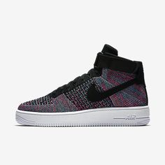 pretty nice 7a7f9 4a348 Chaussure Nike Air Force 1 Pas Cher Homme Ultra Flyknit Rouge Cocktail Bleu  Rayonnant Blanc Noir