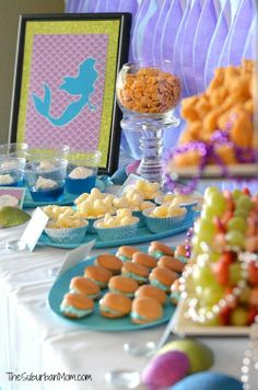 The Little Mermaid Ariel Birthday Party ~ Ideas, Food, Crafts  More