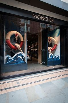 Moncler Window Display | Deauville Windows by Millington Associates | #VM #visualmerchandising #nautical: