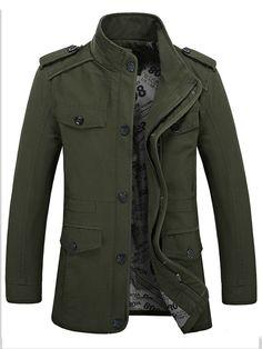 FKZ Spring Jacket Men Solid Color Slim Fit jacket Male Clothing Cotton  Stand Collar Plus Size Veste Homme 510cd021b171