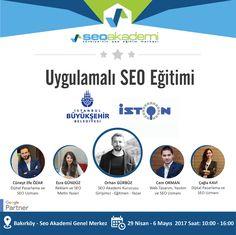29 Nisan - 6 Mayıs 2017 tarihlerinde İstanbul Büyükşehir Belediyesi iştiraki olan İSTON'a Uygulamalı SEO Eğitimi vereceğim. http://www.seoakademi.com.tr http://www.cemorman.com.tr