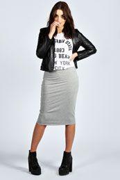 Alexa Basic Midi Skirt
