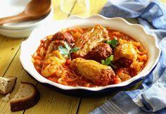 Lecsóágyon sült töltött paprika Top 15, Thai Red Curry, Beef, Cooking, Ethnic Recipes, Food, Hungarian Cuisine, Tomato Juice, Unstuffed Peppers