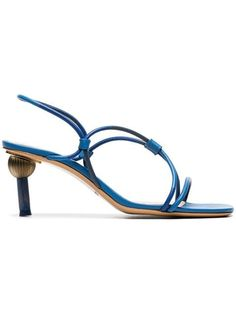 Check out Jacquemus with over 1 items in stock. Shop Jacquemus blue Olbia crossover strap leather slingback sandals today with fast Australia delivery and free returns. Toe Ring Sandals, Mid Heel Sandals, Red Sandals, Lace Up Sandals, Slingback Sandal, Women Sandals, Shoes Heels, Leather Mules, Leather Sandals