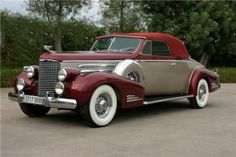 1938 Cadillac Series 38-90, V16 Convertable Coupe - (Cadillac Motors, Detroit, Michigan 1902- present)