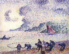 Pêcheur, huile sur toile de Henri Edmond Cross (1856-1910, France)
