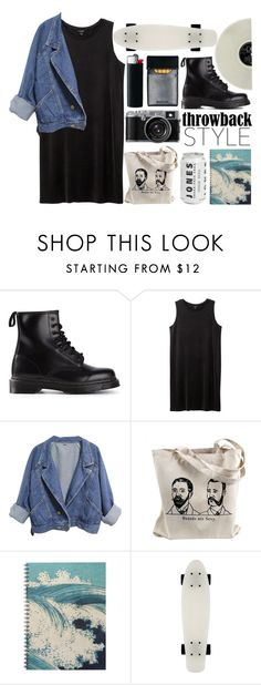 """they wont mind throw us away"" by yinthehuman ❤ liked on Polyvore featuring Dr. Martens, Monki and throwbackstyle"