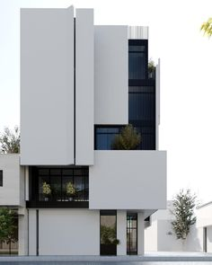 Minimalist Architecture, Modern Architecture House, Facade Architecture, Amazing Architecture, Modern House Design, Modern House Facades, Classical Architecture, Facade Design, Exterior Design