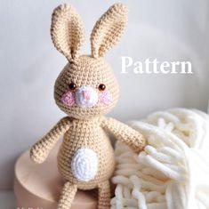 PATTERN, Easter Bunny amigurumi pattern, kawaii bunny, crochet bunny pattern, pdf amigurumi doll, rabbit patern, easy amigurumi pattern by EmerensLove on Etsy