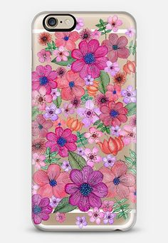 Check out my new @Casetify using Instagram & Facebook photos. Make yours and get $10 off using code: WTMAF6,flowers #pink #watercolours #spring #transparent #iphone #case #casetify