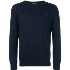 Polo Ralph Lauren crew neck sweater (13.235 RUB) ❤ liked on Polyvore featuring men's fashion, men's clothing, men's sweaters, blue, mens crew sweater, mens sweaters, mens cotton sweaters, mens lightweight sweaters and mens crew neck sweaters