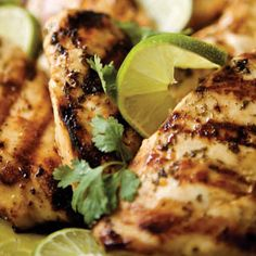 This is the BEST. You can also add an envelope of fajita seasoning if you want to make it fajita chicken.     Ingredients  ½ cup fresh lime juice  2 teaspoons kosher salt  ½ teaspoon fine pepper  1 teaspoon crushed red pepper  2 teaspoons minced garlic  ½ cup chopped cilantro  ½ cup olive oil  6 (6-ounce) boneless, skinless chicken breasts