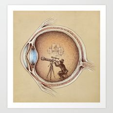 Art Print featuring Extraordinary Observer by Enkel Dika